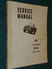 Jeep  CJ2A CJ3A CJ3B CJ5 CJ6 Manual book will cover M201 hotchkiss engine too