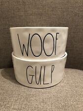 Rae Dunn GULP & WOOF Dog Bowls SET OF 2