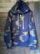 AND 1 Men's Hoodie Sz Small With Logo Blue Camo Print