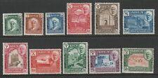 Aden Qu'aiti 1942 George VI Complete set SG 1-11 Mint.