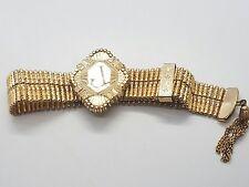Vintage Victorian 10k Yellow Gold Filled Dunn Bros Adjustable L J Bracelet