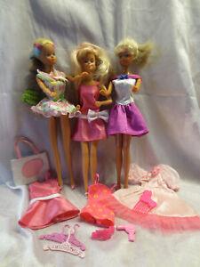 Drei alte Freundinnen von Barbie suchen ein neues Zuhause mit Wechselkleidung