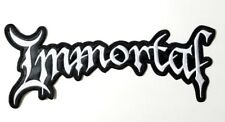 IMMORTAL SHAPED WHITE LOGO EMBROIDERED BACK PATCH