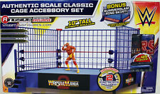 """""""WWE Classic Blue Steel Cage Playset"""" w/ WrestleMania 2 & SummerSlam Ring Skirts"""