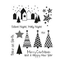 Viva Decor A5 Clear Silicone Stamps Set - Silent Night #145