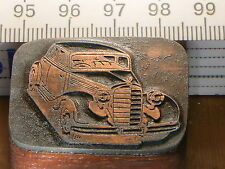 MERCEDES   schöner Oldtimer Stempel / Siegel aus Metall