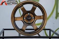15x7 Rota GRID 4x100 +38 Full Royal Sport Bronze Rims New Set