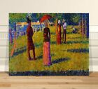 """Georges Seurat Colored Skirt ~ FINE ART CANVAS PRINT 36x24"""" ~ Pointalism"""