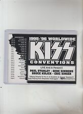 KISS Alive cards 3x5 1995 -96 Kiss Convention