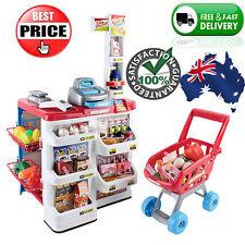 NEW Childrens Kids Pretend Play Supermarket Shop w/ Shopping Cart Cash Register