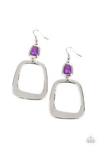 ~Material Girl Mod~ Purple Earrings Paparazzi Jewelry