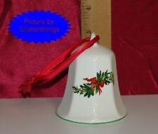 Pfaltzgraff CHRISTMAS HERITAGE 1991 Hanging Bell HOLLY USA! MINT!