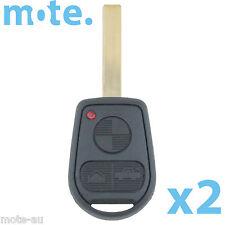 2 x BMW 3 Button Key Remote Case/Shell/Blank 3-5-7 SERIES X3/X5/Z4/E38/E39/E46