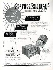 ▬► PUBLICITE ADVERTISING AD Produits de beauté rides STENHAL épithélium 3 1954