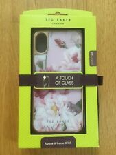 Ted Baker Luxury Touch of Glass Pink Floral HD Glass Case for iPhone X/XS BNIB