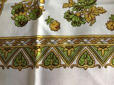 Authentic RARE LAINE Hand Printed Scarf Kerchief Russian Shawl  1960s Japan NWOT