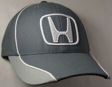 Hat Cap Licensed Honda Grey Mesh White Piping CF