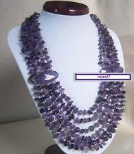 Amazing 6 strand purple amethyst necklace 64cm
