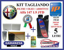 KIT TAGLIANDO FILTRI + OLIO IP WR 5W40 5LT + ADDITIVO ALFA 147 1.9 JTD