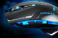 LED 2.4GHz Wireless Gaming Mouse E-3lue 6D Mazer II 2500 DPI Blue