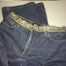 Cavalli Jeans Stretch Blau Gold Gr 36 - 38  30/44