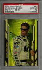 2008 Press Pass Stealth Gold #43 Brad Keselowski RC PSA 10 GEM MINT #rd /99 Card