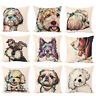 """Cute Pet Dog Animal Cotton Linen Throw Pillow Case Cushion Cover Home Decor 18"""""""