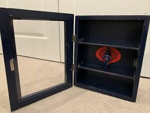 GI JOE COBRA CUSTOM DISPLAY CABINET WITH 1984 COBRA COMMANDER ARAH
