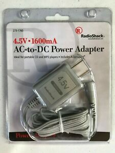 RadioShack 273-1760 AC-to-DC Power Adapter 4.5V 1600mA (No Adaptaplug Tip)