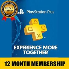 Sony PlayStation PS Plus 12 Months / 1 Year PSN Membership Subscription✅Trusted✅