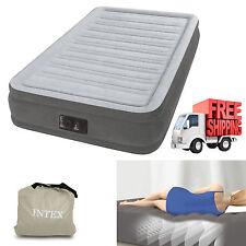 "Twin Air Mattress 13"" Bed Size Built In Pump Intex Air Aero Inflatable Bed"
