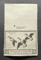 WTDstamps - #RW3 1936 Plate# - US Federal Duck Stamp - Mint OG NH