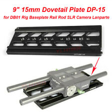 """Lanparte 9"""" 15mm Dovetail Plate DP-15 for DB01 Rig Baseplate Rail Rod SLR Camera"""
