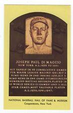 Baseball Joe DiMaggio NY Yankees Autographed HOF Plaque w/ SGC COA