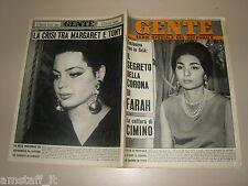 GENTE 1967/11=FARAH DIBA=SONCINO=COSSANO BELBO=DALIDA=WALTER BRUGIOLO=SUE LYON=