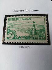 Timbre France Posten° 301 - (rivière bretonne) non oblitéré .année 1935