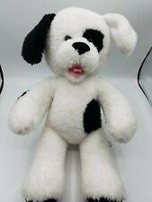 "Babw Build A Bear Black White Shaggy Dog Plush Stuffed Animal 17"""