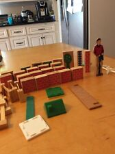 22 Vintage Brick Building Printed Wood Building Blocks Fence & More Bx5