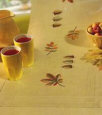 Stickpackung, Rico, Läufer, Herbst, Blätter, Laub, Plattstich, sticken, 40x100cm