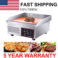 15kw 14 Electric Countertop Griddle Flat Top Commercial Restaurant Grill Bbq