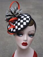 New Womens Sinamay Fascinator Cocktail Hat Wedding Church Kentucky Derby T217