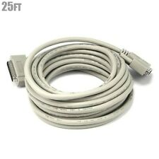 25FT DB25 25-Pin Male to Male IEEE 1284 Parallel Printer Cable Cord Molded