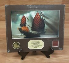 Pirates of The Caribbean Empress Ship Collectible Bronze Medallion Lithograph