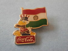 Sam Holding India Flag Coca-Cola 1984 Sponsor Olympic Pin