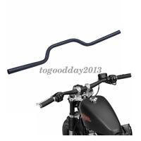 "1"" 25mm Black Motorcycle Tracker Drag Bar Handlebars For Harley Honda Yamaha ATV"