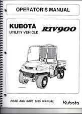 Kubota RTV900 Utility Vehicle side by side Operator's Manual K7581-71215