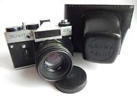 Zenit ET Camera Ussr Slr Russian Soviet 35mm M42, Lens Helios 44 - 2 Soviet era!