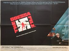 The Odessa File 1974 Original UK Movie Quad Poster Jon Voight, Maximilian Schell