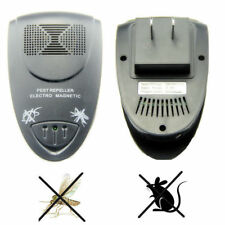 Black Ultrasonic Electronic Pest Cockroach Mouse Bug Insect Mosquito Repeller US