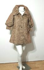 Painted Pony Leopard Animal Print Faux Sheared Fur Jacket Medium Made in USA